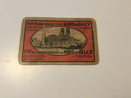 Ancienne Carte à Jouer Au Nom Des Charbonnages Du Nord De Gilly à Fleurus - Autres