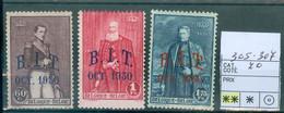 305-307 Xx Côte 70.00€ - Unused Stamps