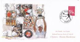 Frankrijk - Gelegenheidsenveloppe - Roland Garros - 7 Juni 2003 - Finale - Clijsters - Henin-Hardenne - Tennis