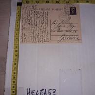 FB1934 STORIA POSTALE CARTOLINA CENT. 50 DA PAVIA A GENOVA - 1946-60: Poststempel