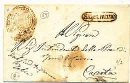 185? REGNO DI NAPOLI PREFILATELICA SAN GERMANO X CASERTA DA CERVARO - 1. ...-1850 Prephilately