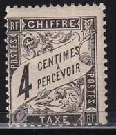 YT TT13  Taxe: Duval - Chiffre-Taxe  4c Noir  (Maury TT14) Neuf**   Cote: 140€ - 1859-1955.. Ungebraucht