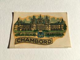 Rare - Blason écusson / Chromotransfert Décalcomanie - Vintage Années 50/60 - CHAMBORD - Oude Documenten