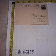 FB1941 STORIA POSTALE CARTOLINE DA PESCOCOSTANZO A MILANO - 1946-60: Poststempel