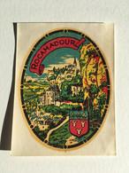 Rare - Blason écusson / Chromotransfert Décalcomanie - Vintage Années 50/60 - ROCAMADOUR - Oude Documenten