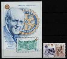 Nevis 1997 - Mi-Nr. 1110 & Block 127 ** - MNH - Rotary - St.Kitts Und Nevis ( 1983-...)