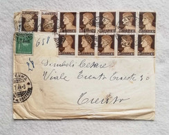 Lettera Da Ravenna Per Treviso 1944 Affrancatura Multipla - Marcofilie