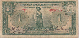 BILLETE DE PARAGUAY DE 1 GUARANI DEL AÑO 1943  (BANKNOTE) - Paraguay