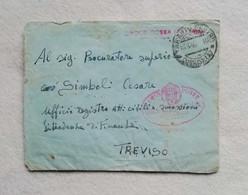 Busta Di Lettera Da Taranto Per Treviso 1946 Con Timbro Regie Poste Croce Rossa Italiana - Marcophilia