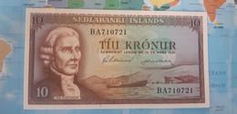 ICELAND 10 KRONUR 1961 P42 UNC - Iceland