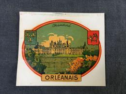 Rare - Blason écusson Chromotransfert Décalcomanie Vintage Années 50/60 - CHAMBORD / ORLEANAIS - Oude Documenten