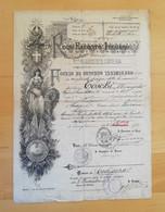 Foglio Di Congedo Illimitato 82° Reggimento Fanteria 14/10/1893 - Documents