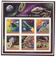 Burundi, 1972, Space, Apollo 16, Overprinted, MNH Imperforated, Michel Block A60B - Unclassified