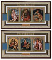 Burundi, 1973, Christmas, Paintings, Overprinted, MNH Imperforated, Michel Block 75-76B - Zonder Classificatie