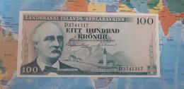 ICELAND 100 KRONUR 1957 P40 UNC - Iceland