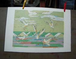"LITHOGRAPHIES  ""les Mouettes"" - Prints & Engravings"