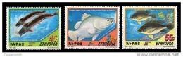 (404) Ethiopia / Ethiopie  Ocean / Fish / Poissons / Fische / Vissen / 2001  ** / Mnh  Michel 1708-10 - Ethiopia