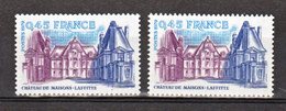 France 2064 A GT Maisons Lafitte Peu Visible Sur Scan  Neuf ** TB MNH Sin Charnela Cote Dallay 40 - Varietà: 1970-79 Nuovi