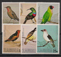 Zambia - 1977 - N°Yv. 168 à 173 - Oiseaux - Neuf Luxe ** / MNH / Postfrisch - Zambie (1965-...)