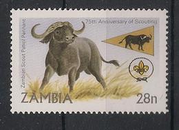 Zambia - 1982 - N°Yv. 260 - Buffle / Buffalo - Neuf Luxe ** / MNH / Postfrisch - Zambie (1965-...)