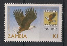 Zambia - 1982 - N°Yv. 261 - Aigle / Eagle - Neuf Luxe ** / MNH / Postfrisch - Zambie (1965-...)