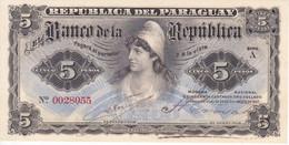 BILLETE DE PARAGUAY DE 5 PESOS DEL AÑO 1907 SIN CIRCULAR (UNCIRCULATED) (BANKNOTE) - Paraguay