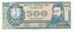BILLETE DE PARAGUAY DE 500 GUARANIES DEL AÑO 1952 SIN CIRCULAR (UNCIRCULATED) (BANKNOTE) - Paraguay