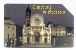 TELECOM ITALIA  - OMAGGIO PRIVATE - CAT. C.&C. 3349 - 700^ ANNIV. CATTEDRALE DI GROSSETO DA  2.000 - USATA - RIF. CPOVA - Private-Omaggi
