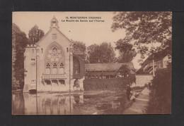 CPA . 91 . MONGERON CROSNES . Le Moulin De Senlis Sur L'Yerres . Pêcheurs à La Ligne . - Montgeron