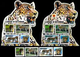 (283-285) Botswana  2016-2017 / Animals / Animaux / Tiere / Dieren / Leopards  ** / Mnh  Michel 1053/56, BL 49, BL 49 I - Botswana (1966-...)