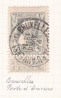 Belgique - COB 78 Obl. Bruxelles Porte D'Anvers - 1908 - 1905 Breiter Bart