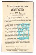 DP Im. Mort. - Gendarme Rijkswacht Léon Saint ° Sart-Custinne Gedinne 1891 † 1945 X Marie Collard - Andachtsbilder