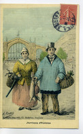 95 PONTOISE Seyes édit - Couple Paysans Lievre Et Volailles  J'arrivons De ..1906 Timb - RIOTTOT Illustrateur  /D11-2018 - Pontoise