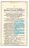 DP Im Mort - Sous Off. Gendarme Rijkswacht François Poncelet ° Wibrin Houffalize 1905 † Achouffe Wibrin 1955 X M Hampert - Andachtsbilder