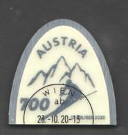 """Österreich 2020:   Block """"Skispitze"""" Gestempelt (s.Scan) - 2011-... Briefe U. Dokumente"""