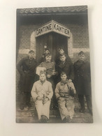 Carte Postale Ancienne  Camp De Beverloo Militaires à La Cantine - Barracks