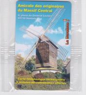 Carte Téléphonique Rechargeable Sannois, Amical Des Originaires Du Massif Central 2005, Sous Blister. Moulin - Frankreich