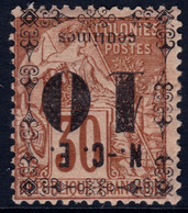 ✔️ Nouvelle Calédonie 1891/1892 - Timbres Colonies Avec Surcharge Renversée - Yv. 12 * MH - €26 - Neufs