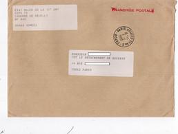 LSC 1990 - Entête Etat Major De La 11° DMT - Caserne De Reuilly - Cachet PARIS ARMEES 01  AN.2 - Militärstempel Ab 1900 (ausser Kriegszeiten)