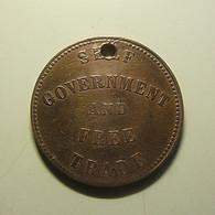 Token Prince Edward Island 1857 Holed - Jetons & Médailles