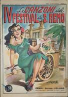 Musica Rivista Novelle E Canzone - Le Canzone Del IV Festival Di S. Remo - 1954 - Boeken, Tijdschriften, Stripverhalen