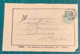 Paris - 1901 - N°111 Cad IMPRIMES-PARIS (N°i12) Cote 100€ Sur étiquette D'imprimé - - Boeken, Tijdschriften, Stripverhalen