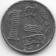 Netherlands  1 Cent 1943 Km 170   Xf  !!! - 1 Cent