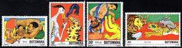 Botswana - 1980 Folktales Set (**) # SG 468-471 - Botswana (1966-...)