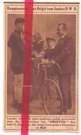 Orig. Knipsel Coupure Tijdschrift Magazine - Mol - Wielrenner Loncke & G. Huysmans Constructeur Fietsen Bristol - 1926 - Unclassified