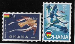 Ghana Poste Aérienne N°13/14 - Oiseaux - Neuf ** Sans Charnière - TB - Ghana (1957-...)
