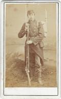 Photo  Sur Support Cartonne      Portrait Militaire - Zonder Classificatie
