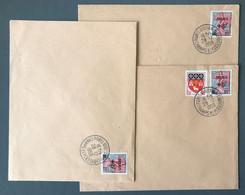 France N°1229 (au Profit Des Sinistrés De Fréjus) Sur 3 Enveloppes - (C2013) - Postmark Collection (Covers)