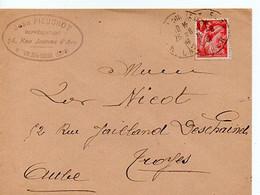 E 12 1941 Lettre/carte Entete  Représentant A Betun Sur Yevre - Postmark Collection (Covers)