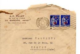 E 12 1941 Lettre/carte Entete  Entreprise A La Garenne - Postmark Collection (Covers)